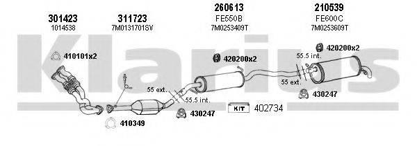 KLARIUS 930563E Система выпуска ОГ