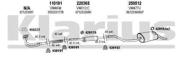 KLARIUS 930695E Система выпуска ОГ