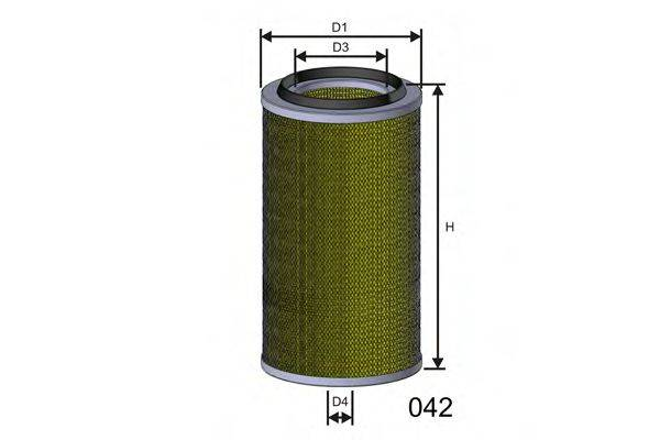 MISFAT R804 Воздушный фильтр
