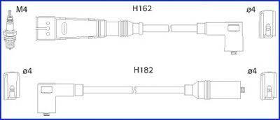 HITACHI 134703 Комплект проводов зажигания