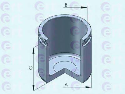 ERT 151238C Поршень, корпус скобы тормоза