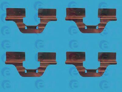 ERT 420007 Комплектующие, колодки дискового тормоза