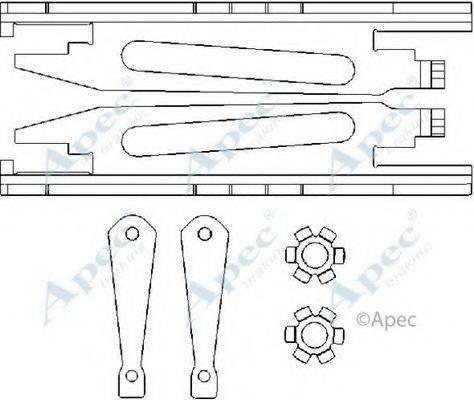 APEC BRAKING ADB3011 Система тяг и рычагов, тормозная система