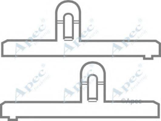 APEC BRAKING KIT265 Комплектующие, тормозные колодки