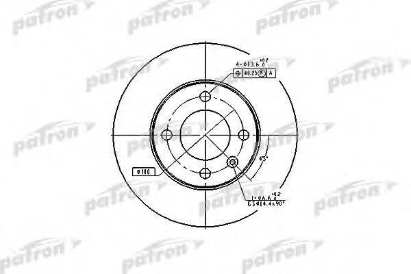 PATRON PBD1518 Тормозной диск