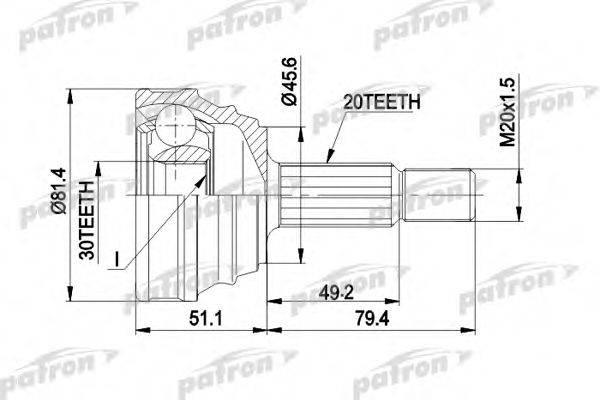 PATRON PCV1034 ШРУС с пыльником
