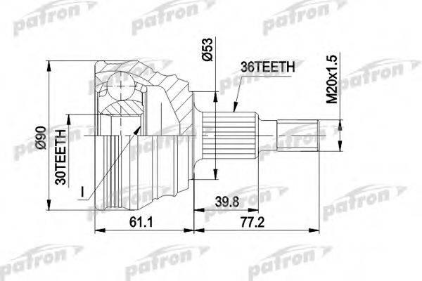 PATRON PCV1189 ШРУС с пыльником