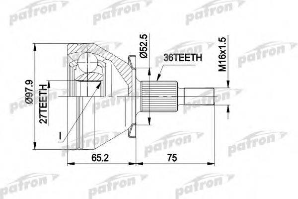 PATRON PCV1428 ШРУС с пыльником