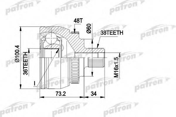 PATRON PCV1444 ШРУС с пыльником
