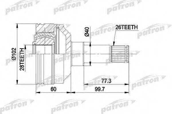 PATRON PCV4012 ШРУС с пыльником