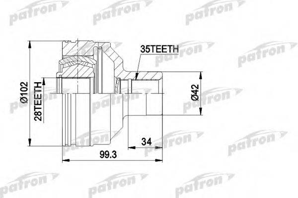 PATRON PCV5013 ШРУС с пыльником