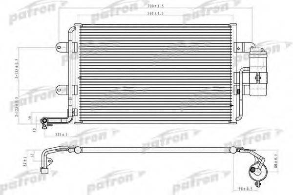 PATRON PRS1069 Конденсатор кондиционера