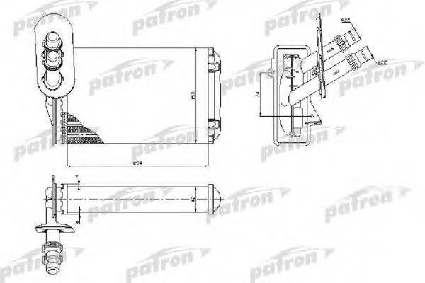 PATRON PRS2074 Радиатор печки