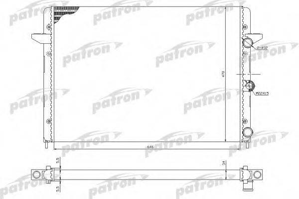 PATRON PRS3211 Радиатор охлаждения двигателя