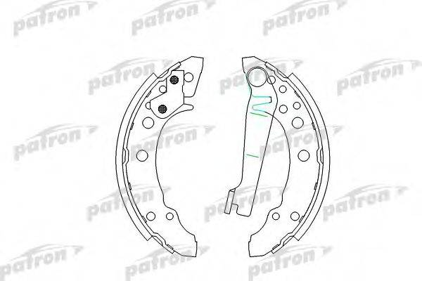 PATRON PSP191 Тормозные колодки барабанные