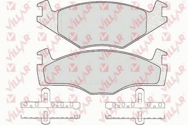 VILLAR 6260591 Тормозные колодки