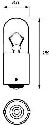 MOTAQUIP VBU233 Лампа накаливания, фонарь указателя поворота; Лампа накаливания, фонарь освещения номерного знака; Лампа накаливания, задний гарабитный огонь; Лампа накаливания, стояночный / габаритный огонь; Лампа, мигающие / габаритные огни