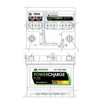 MOTAQUIP VBY1 Аккумулятор автомобильный (АКБ)