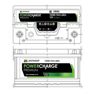 MOTAQUIP VBZ80 Аккумулятор автомобильный (АКБ)
