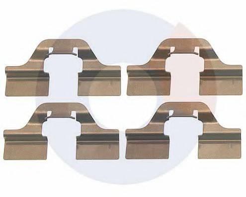 CARRAB BRAKE PARTS 2266 Комплектующие, колодки дискового тормоза