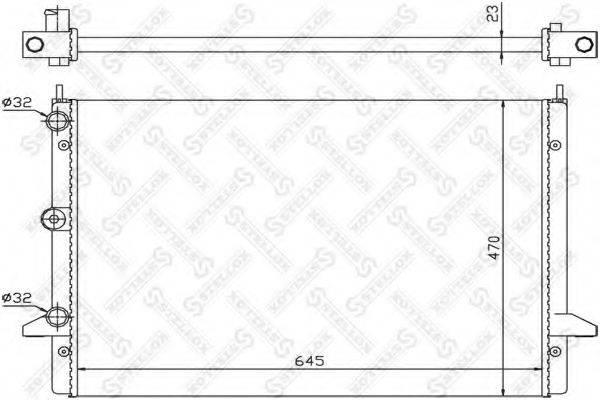 STELLOX 1025242SX Радиатор охлаждения двигателя
