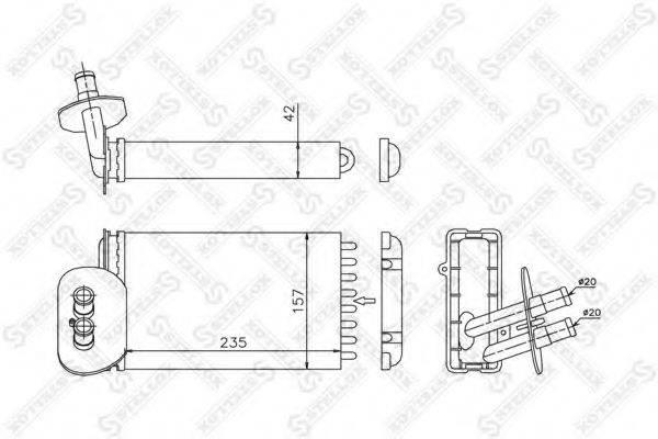 STELLOX 1035048SX Радиатор печки