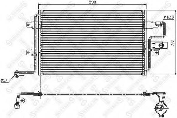 STELLOX 1045011SX Конденсатор кондиционера
