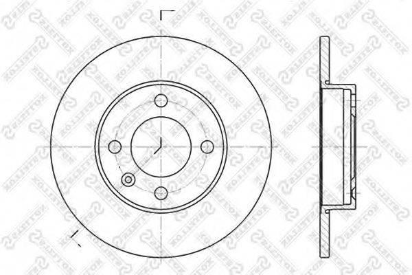 STELLOX 60204704SX Тормозной диск