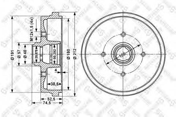 STELLOX 60254708SX Тормозной барабан