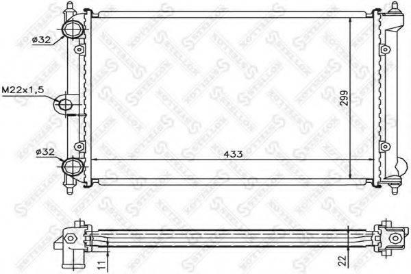 STELLOX 1026410SX Радиатор охлаждения двигателя