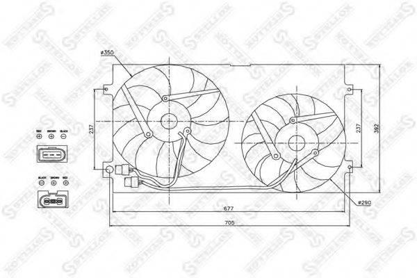 STELLOX 2999007SX Вентилятор системы охлаждения двигателя