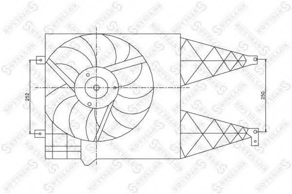 STELLOX 2999011SX Вентилятор системы охлаждения двигателя