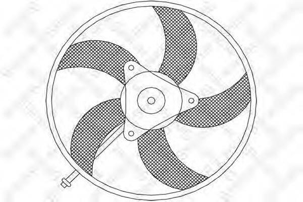 STELLOX 2999301SX Вентилятор системы охлаждения двигателя