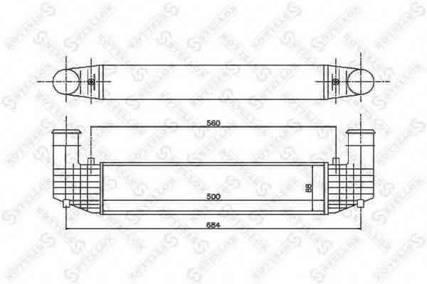 STELLOX 1040129SX Интеркулер