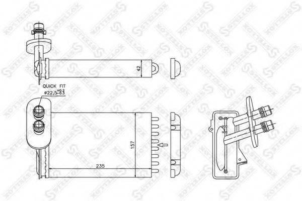 STELLOX 1035017SX Радиатор печки