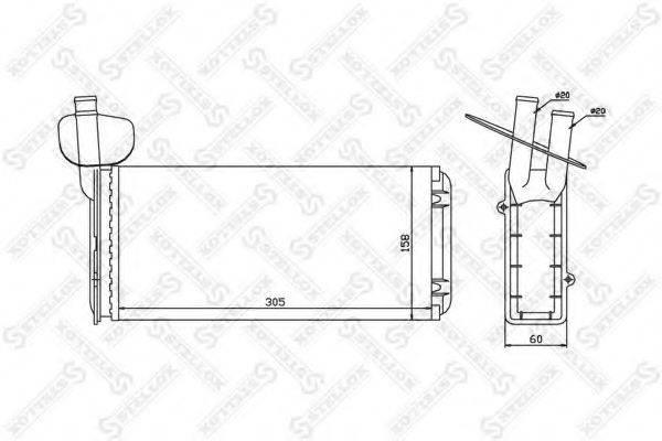 STELLOX 1035020SX Радиатор печки