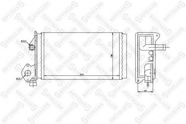STELLOX 1035063SX Радиатор печки