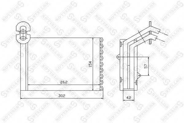 STELLOX 1035075SX Радиатор печки