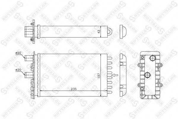 STELLOX 1035079SX Радиатор печки
