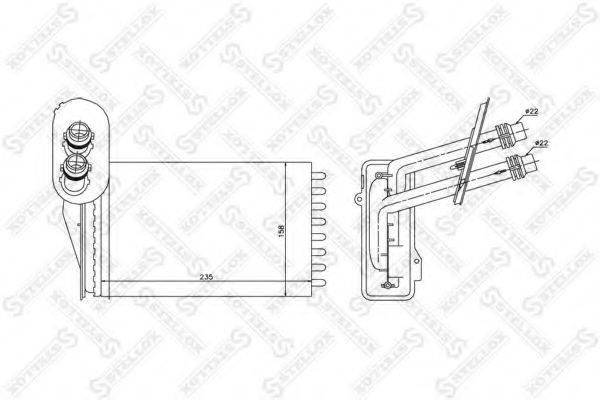 STELLOX 1035181SX Радиатор печки