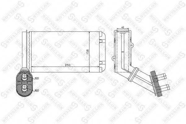 STELLOX 1035182SX Радиатор печки