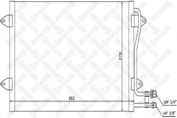 STELLOX 1045542SX Конденсатор кондиционера