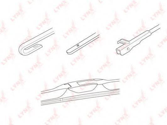 LYNXAUTO LX400 Щетка стеклоочистителя