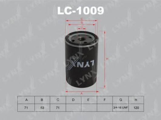 LYNXAUTO LC1009 Фильтр масляный ДВС