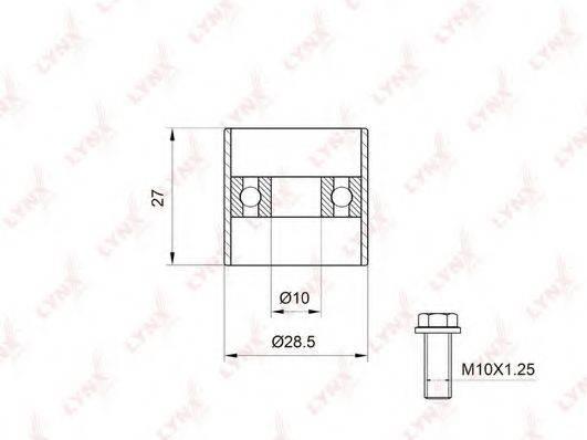 LYNXAUTO PB3003 Обводной ролик ремня ГРМ