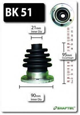 SHAFTEC BK51 Комплект пыльника ШРУСа