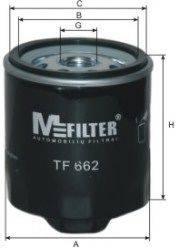MFILTER TF662 Фильтр масляный ДВС