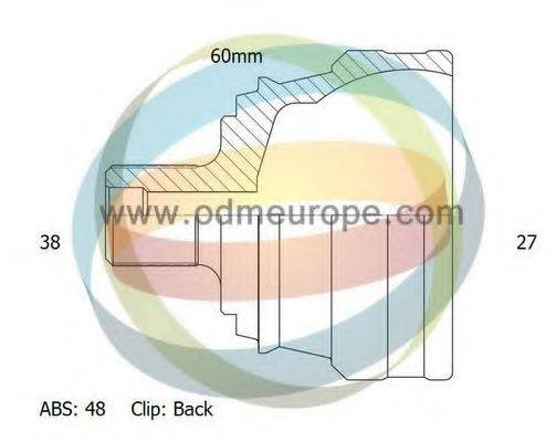 ODM-MULTIPARTS 12011418 ШРУС с пыльником