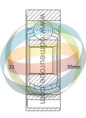 ODM-MULTIPARTS 14216035 ШРУС с пыльником