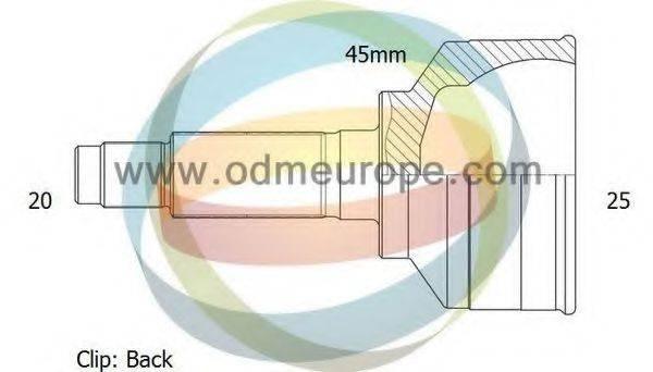 ODM-MULTIPARTS 12211312 ШРУС с пыльником